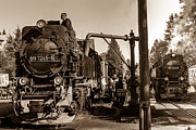 Drei Prints - Steam Train  Print by Maik Tondeur