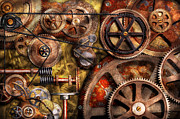 Steampunk Posters - Steampunk - Gears - Inner Workings Poster by Mike Savad