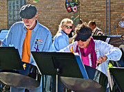 Steel Drum Prints - Steel Doin It Steel Drum Band at ArtPrize 2011 Print by Ruth Hager
