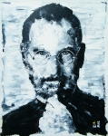 Glasses Painting Originals - Steve Jobs by Michael Leporati