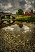 North Wales Digital Art Framed Prints - Stone Bridge Framed Print by Adrian Evans