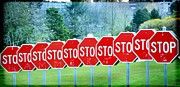 Stop Sign Photo Prints - Stop Print by Fraida Gutovich