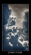 Storm Prints Framed Prints - Storm Clouds  Framed Print by Vincent Dwyer