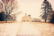 Muted Prints - Storm Lake Barn Print by Julie Hamilton
