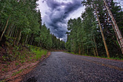 Colorado Front Range Photos - Stormy Mountain Road by Thomas Zimmerman