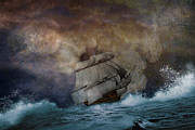 Heavy Weather Prints - Stormy Seas Print by Todd and candice Dailey
