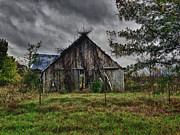 Abandoned School House. Framed Prints - Stormy Weather Framed Print by Danny Pickens