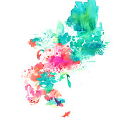 Water Color Digital Art Metal Prints - Stream Metal Print by Budi Satria Kwan