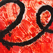 Red And Black Art - Strength - Red and Black Abstract Art by Sharon Cummings