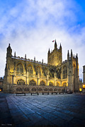Bath England Framed Prints - Stunning Beauty of Bath Abbey At Dusk Framed Print by Mark E Tisdale