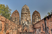 Ancient Photo Prints - Sukhothai Historical Park - Sukhothai Thailand - 011352 Print by DC Photographer