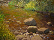 Terry Perham Art - Summer Leith Stream  by Terry Perham