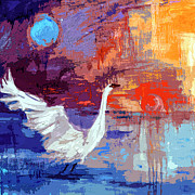 Ginette Callaway - Sun and Moon Swan Rising