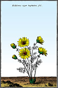 Antique Digital Art Prints - Sunflowers Print by Gary Grayson