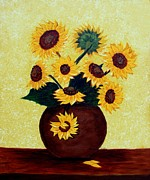 Barbara Griffin - Sunflowers on Yellow