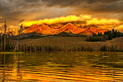 Awesome Prints - Sunrise On Little Redfish Lake Print by Robert Bales