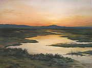 Morning Pastels - Sunrise over Oakland Hills by Martha J Davies