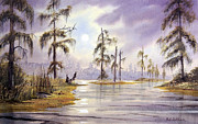 Anhinga Paintings - Sunrise Over Wakulla River by Bill Holkham