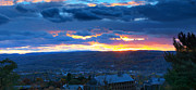 Ithaca Prints - Sunset in Ithaca New York Panoramic Photography Print by Paul Ge