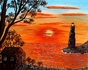 Barbara Griffin - Sunset Lighthouse