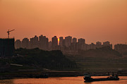 Fototrav Print - Sunset on Chinese city