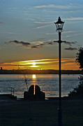 Terri Waters Art - Sunset Over The Solent by Terri  Waters