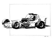 Autos Drawings - Supermodified by William Walts