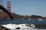 Wingsdomain Art and Photography - Surfers Near The San Francisco Golden...