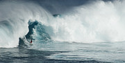 Big Wave Surfing Posters - Survival Mode Poster by Bob Christopher