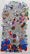 Gond Tribal Art Paintings - Sv 70 by Shubash Vyam