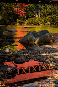 New England Fall Foliage Art - Swift River Covered Bridge by Jeff Folger