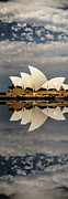 Sydney Digital Art - Sydney Opera House with clouds by Sheila Smart