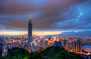 Fototrav Print - Taipei city night skyline