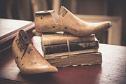 Antique Store Prints - Take a walk with a good book Print by Toni Hopper