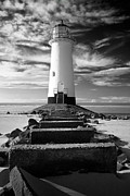 Talacre Digital Art - Talacre Lighthouse by Mike Evans