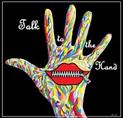Gestures Digital Art Metal Prints - Talk to the Hand Metal Print by Eloise Schneider