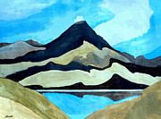 Aotearoa Paintings - Tama Lakes and Mount Doom by Patricia Howitt