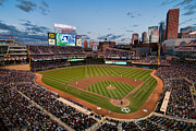 Ballfield Framed Prints - Target Field Framed Print by Mark Whitt
