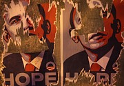 President Obama Prints - Tattered Hope Print by Nathan Rupert