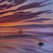 Print Pastels Originals - Taylor Dock Trilogy 3 of 3 by Pamela Heward