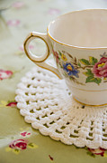 Table Cloth Prints - Tea for One Print by Margie Hurwich