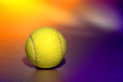 Tennis Photo Metal Prints - Tennis Ball Metal Print by Olivier Le Queinec