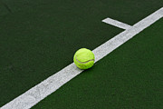 Tennis Court Prints - Tennis - The Baseline Print by Paul Ward