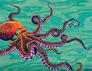 Tentacles Paintings - Tentacles by Emily Brantley