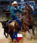 Texas Rodeo Fine Art Print by Alonzo Butler