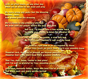 Blessings Digital Art - Thanksgiving Day Prayer - Thanksgiving art by Giada Rossi by Giada Rossi