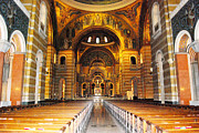 Catholic Art Photo Originals - The Altar of Cathedral Basilica by Byron Snider