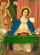 Blessed Virgin Mary Posters - The Annunciation Poster by Arthur Joseph Gaskin