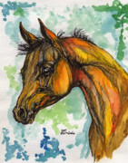 Horse Drawings - The Arabian Foal by Angel  Tarantella