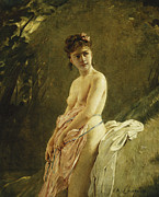 Academic Paintings - The Bather by Charles Chaplin